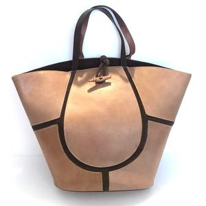 {Claudia Firenze} Leather & Suede Bucket Tote Bag